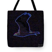 Osprey In Neon Blue Tote Bag