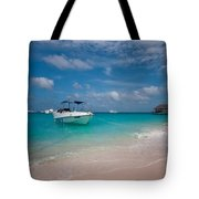 Out Of Border. Maldives Tote Bag by Jenny Rainbow