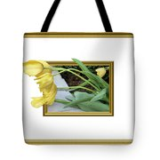 Out Of Frame Yellow Tulips Tote Bag