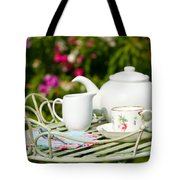 Outdoor Tea Party Tote Bag by Amanda Elwell