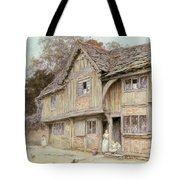 Outside A Timbered Cottage Tote Bag