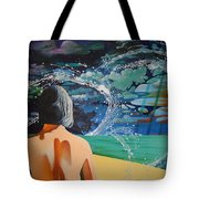 Over Looking The Bay Of Cadiz Tote Bag