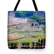 Over The Green Valley Tote Bag