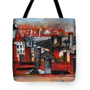 Over The Roofs Tote Bag