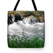 Over The Stones The Water Flows Tote Bag