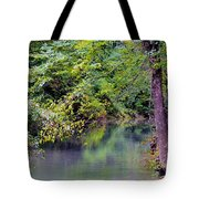 Overcast Reflections At Buck Creek Tote Bag