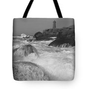 Overflooding Black And White Tote Bag