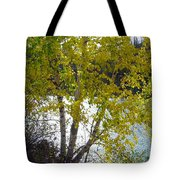 Overlooking The North Saskatchewan River Tote Bag