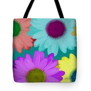 Oversize Daisies Two Tote Bag