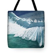Overturned Iceberg With Eroded Edges Tote Bag