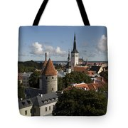 Overview Of Old Town, Medieval Tote Bag