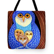 Owl And Owlettes Tote Bag