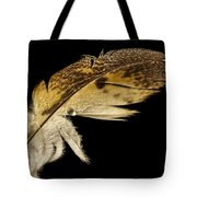 Owl Feather With Water Tote Bag