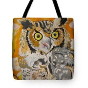Owl In The Fall Tote Bag