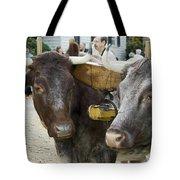Oxen Pair Tote Bag