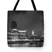 Oxo Tower Night  Bw Tote Bag