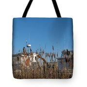 Oyster Boats In Dry Dock  Tote Bag