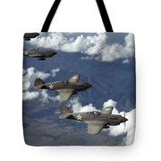 P-40 Pursuits Of The U.s. Army Air Tote Bag