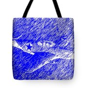 P 51 Mustang Flying In The Rain Tote Bag