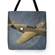 P 51 Mustang On A Mission Tote Bag