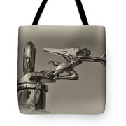 Packard Angel Hood Ornament In Sepia Tote Bag