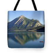 Sunrise Paddle In Peace - Kananaskis, Alberta Tote Bag