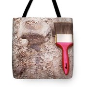 Paint Brush Next To Camarasaurus Tote Bag