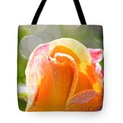 Paint Daub Yellow Rose Tote Bag