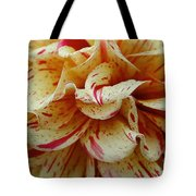 Paint Spattered Petals Tote Bag