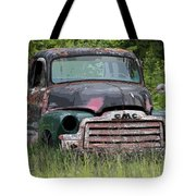 Painted Gmc Truck Tote Bag