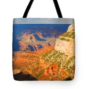 Painted Grand Canyon Before Sunset Tote Bag