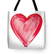 Painted Heart - Symbol Of Love Tote Bag