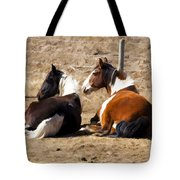 Painted Horses I Tote Bag