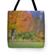 Painted Leaves Of Autumn Tote Bag
