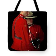 Painted Mounties Tote Bag