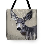Painted Muley Tote Bag