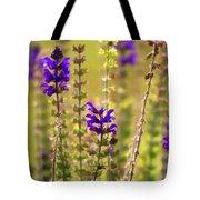Painted Purple Sage Salvia Tote Bag
