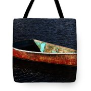 Painted Row Boat Tote Bag