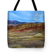 Painted Sky Over Painted Hills Tote Bag