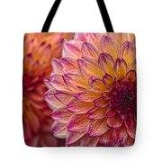 Painted Stacked Dahlias Tote Bag