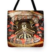 Painted Turtle Head Tote Bag