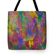 Painted Wooden Wall Tote Bag