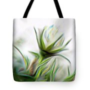 Painterly White Roses Tote Bag
