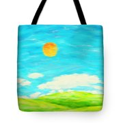 Painting Of Nature In Spring And Summer Tote Bag