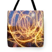 Painting With Sparklers Tote Bag