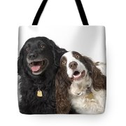 Pair Of Canine Friends Tote Bag