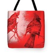 Pair Of Cardinals Tote Bag