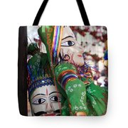 Pair Of Large Puppets At The Surajkund Mela Tote Bag