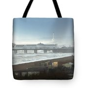 Palace Pier And Shoreham Power Station Tote Bag