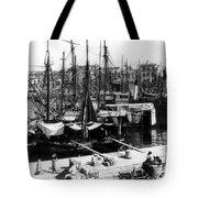 Palermo Sicily - Shipping Scene At The Harbor Tote Bag